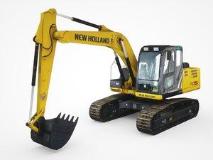 3D new holland e175c-lc model