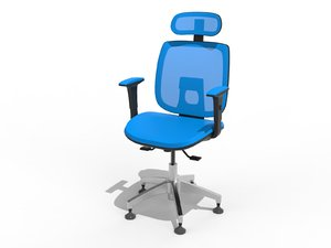3D office chair multi options
