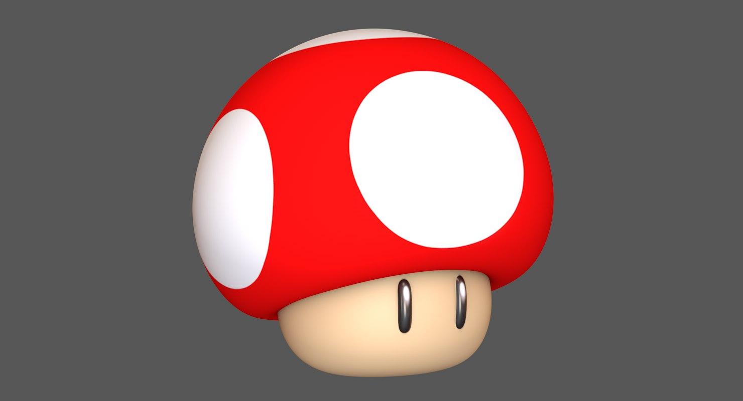 super mushroom mario assets 3D