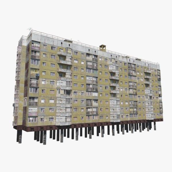 soviet building city 3D model