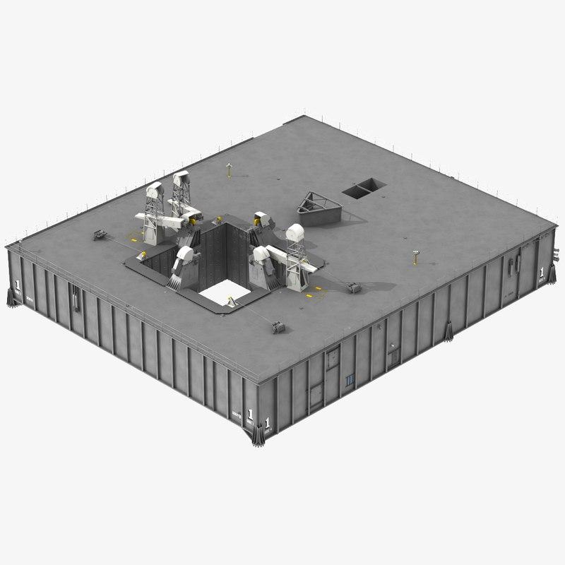 3D saturn apollo mobile launcher model