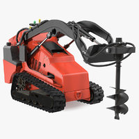 mini skid steer auger 3D model