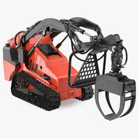 3D mini skid steer grapple model