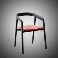 mornington dining chair aluminium 3D model