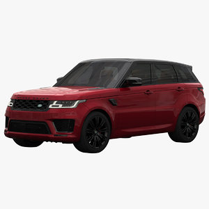 3D model land rover range sport
