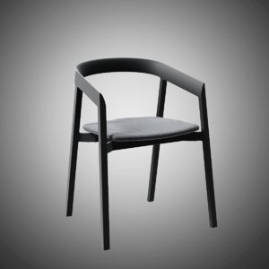 mornington dining chair aluminium 3D model