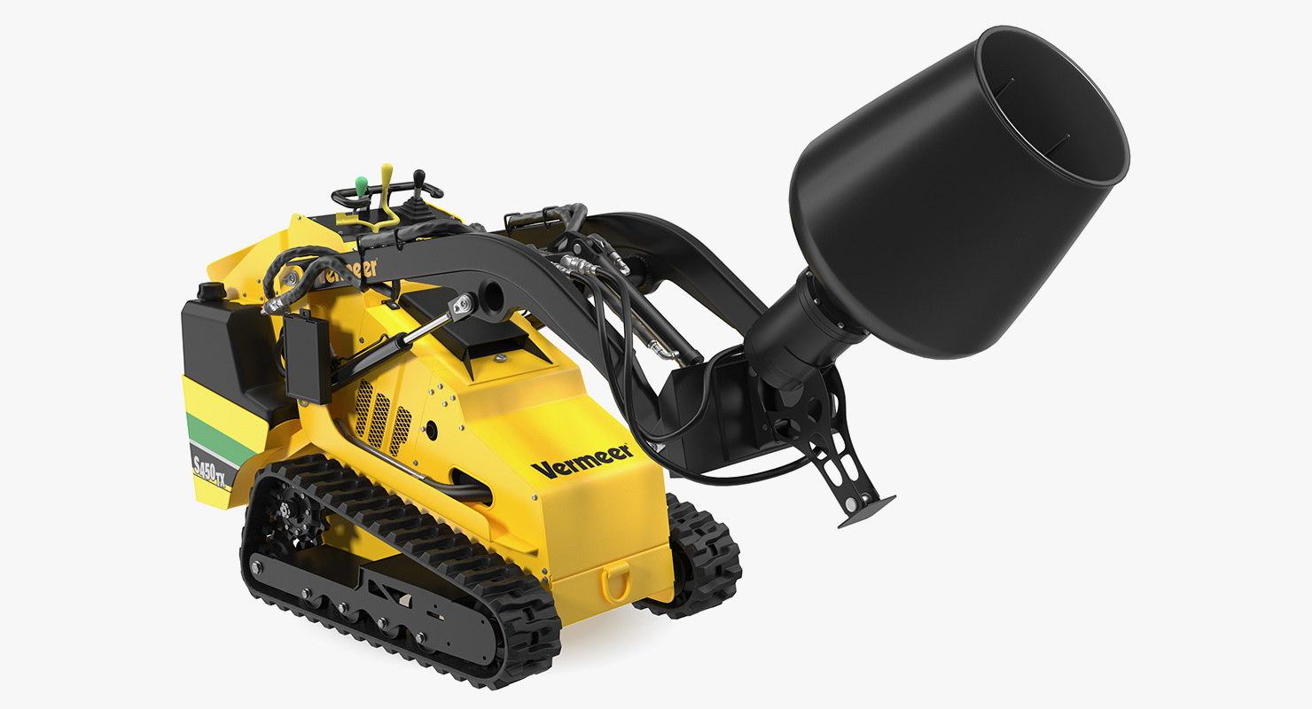 vermeer s450tx mixer clean 3D