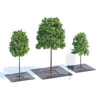 3D arboris tree-grill metalco model