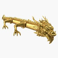 golden dragon 3D model