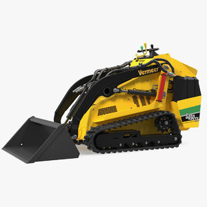 3D mini skid steer loader model