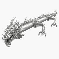 silver dragon 3D model