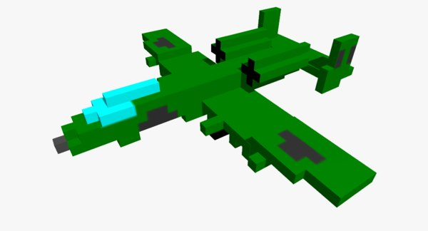 3D pixelated a10 plane -
