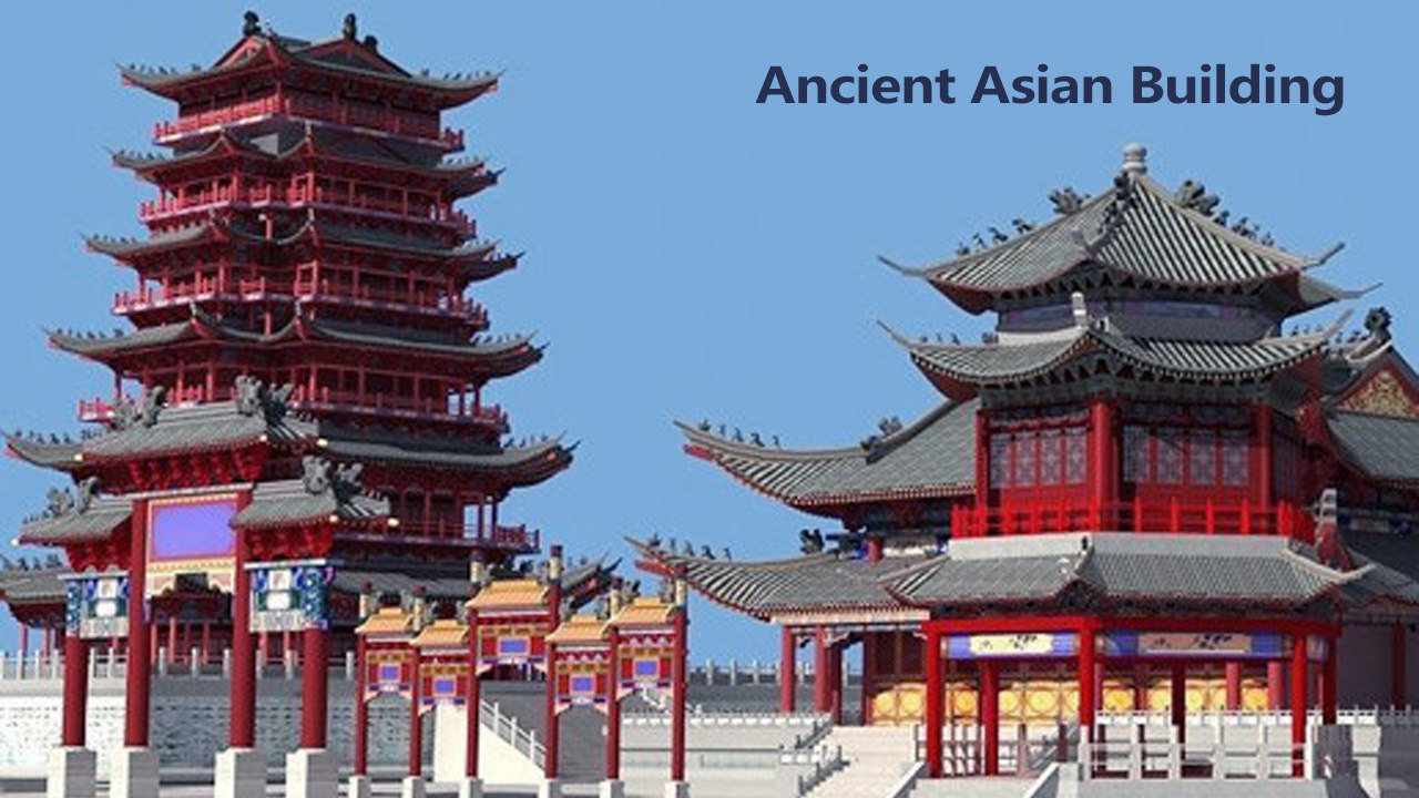 ancient chinese buildings 3D