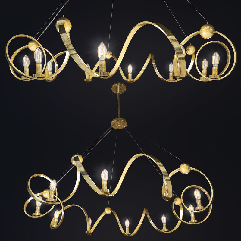 3D ringmaster chandelier