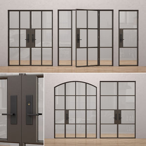 3D model rehme steel doors 3