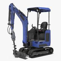 mini excavator earth drill model