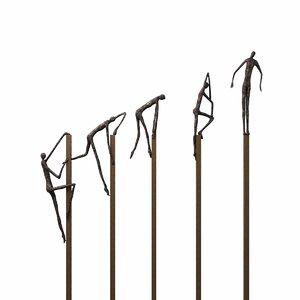 sculpture bronze surpass gardeco 3D model