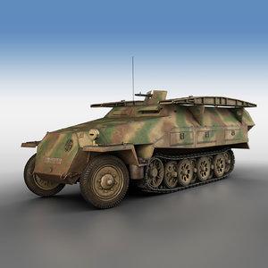 sd kfz 251 7 3D model