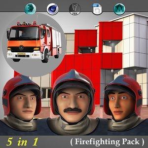 firefighting pack 3D model