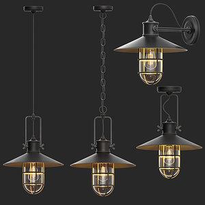 3D pendant light model