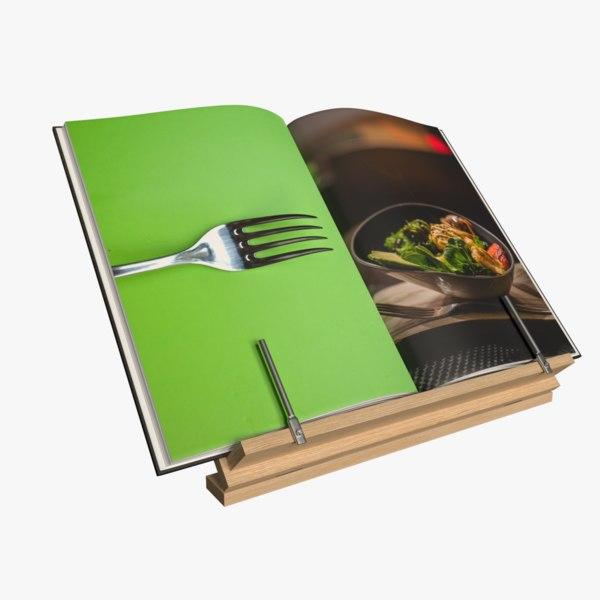 cookbook stand book 3D model