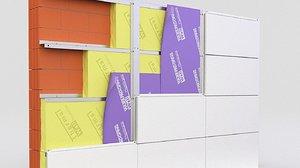 3D facade wall panels