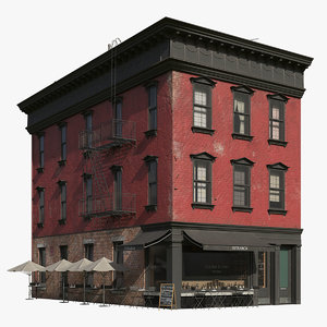 new york corner building 3D model