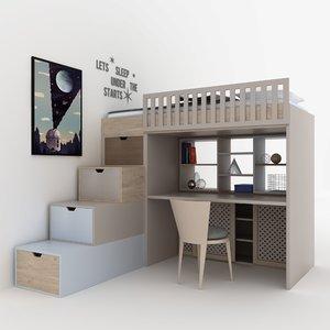 child bedroom model