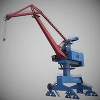 portal jib crane 3D model