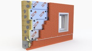 3D model wall pir pur