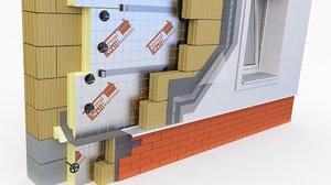 wall pir pur 3D