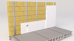 3D metal wall