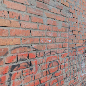 ultra realistic brick old wall 3D