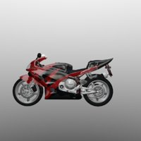 3D model moto motorcycle