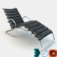 adjustable chaise lounge 3D model