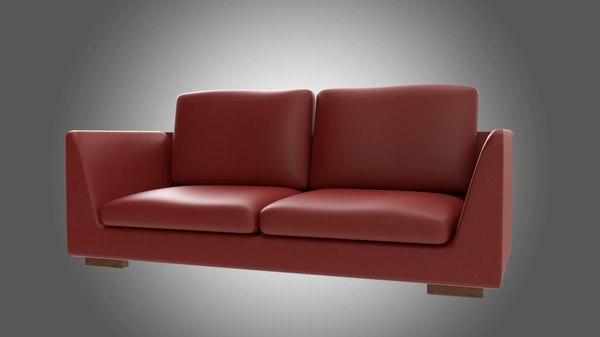 sofa red model
