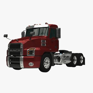 mack anthem day cab 3D model