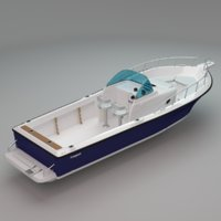 3D model walkaround boat freeport 26wa