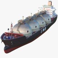 3D tanker ship model