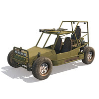 dune military buggy games 3D model
