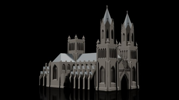 gothic cathedral church 3D model
