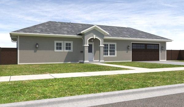 3D home house exterior