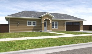 3D home house exterior model