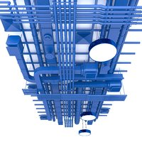 industrial ceiling 3D