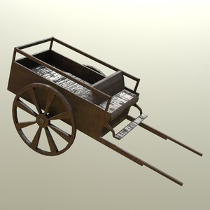 carriage horse-drawn 3D model