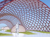 Decorative glass tunnel for park