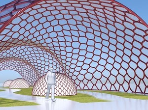 decorative glass tunnel park model