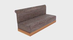 cosmopolitan beige linen sofa 3D model