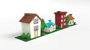 house cartoon art model