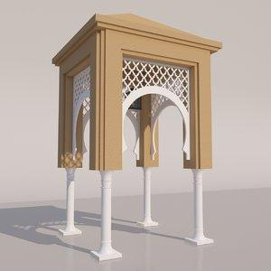 traditional moroccan door 3D model